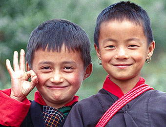 Girls in Bumthang, Bhutan by Mark Tuschman