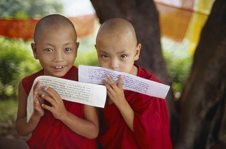 Bhutan children monks