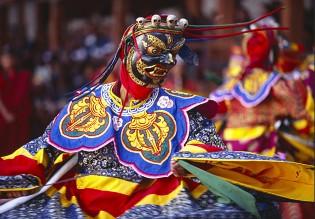 Bhutan festival dancer