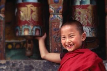 Bhutan child monk