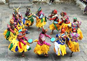 Mask dances of bhutan