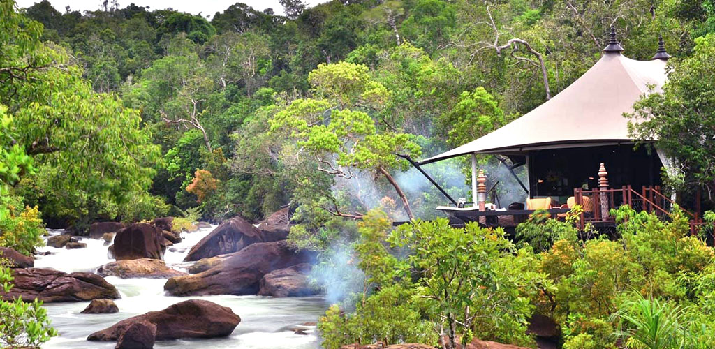 Luxury tented at the Shinta Mani Wild in the Cardamom Mountains, Cambodia