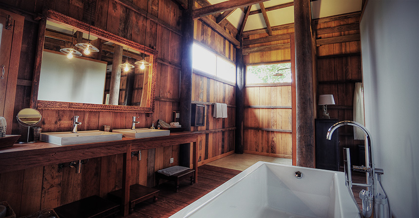 Bathroom at Salay Lodges, Siem Reap, Cambodia