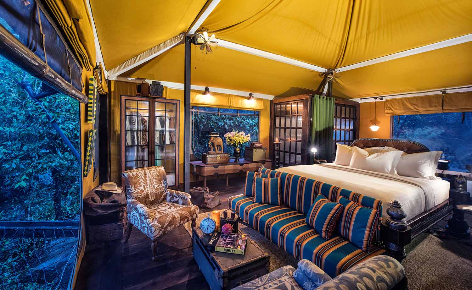 Shinta Mani Wild Luxury Tented Camp bedroom
