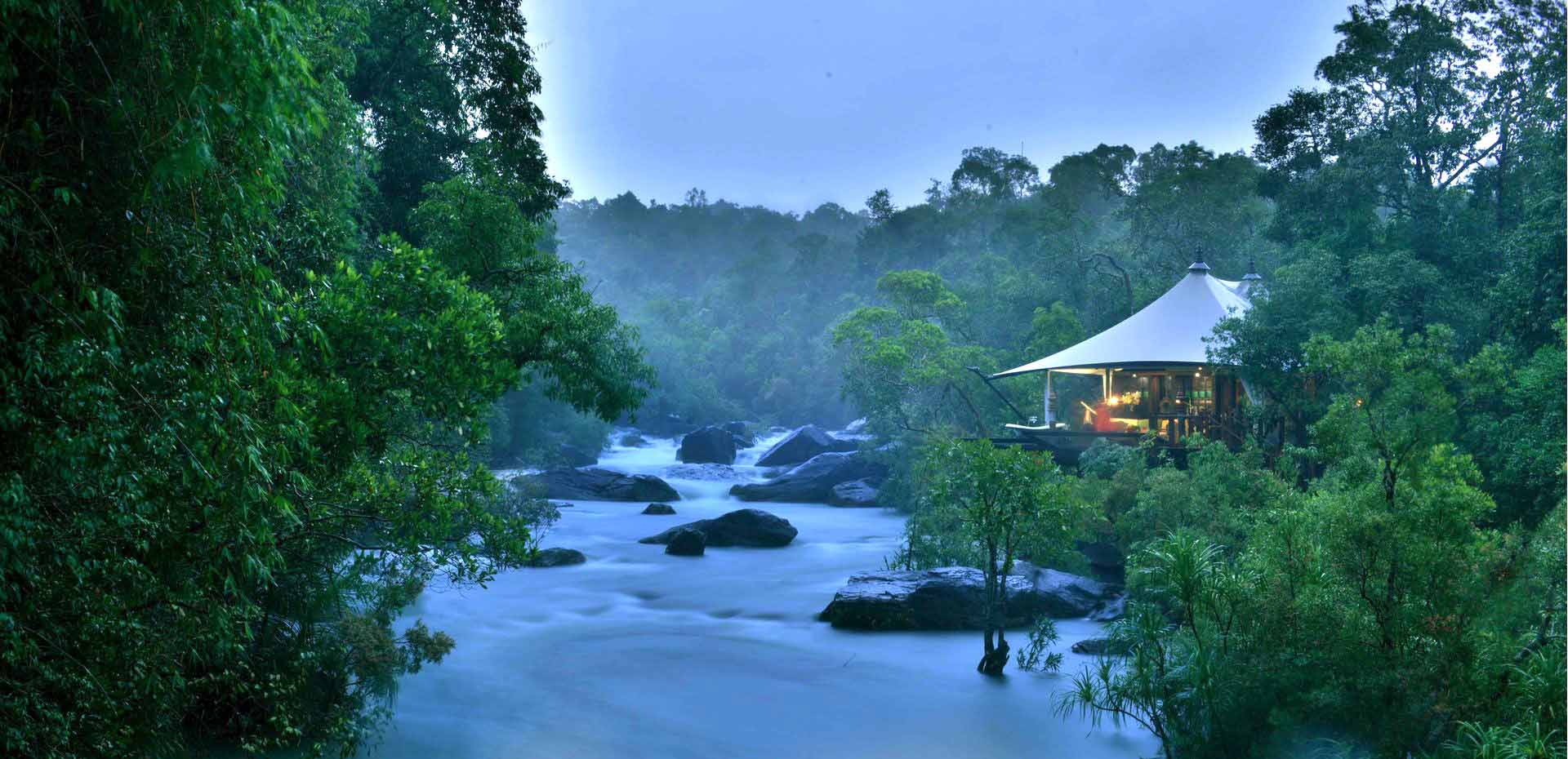 Shinta Mani Wild Luxury Tented Camp view of river