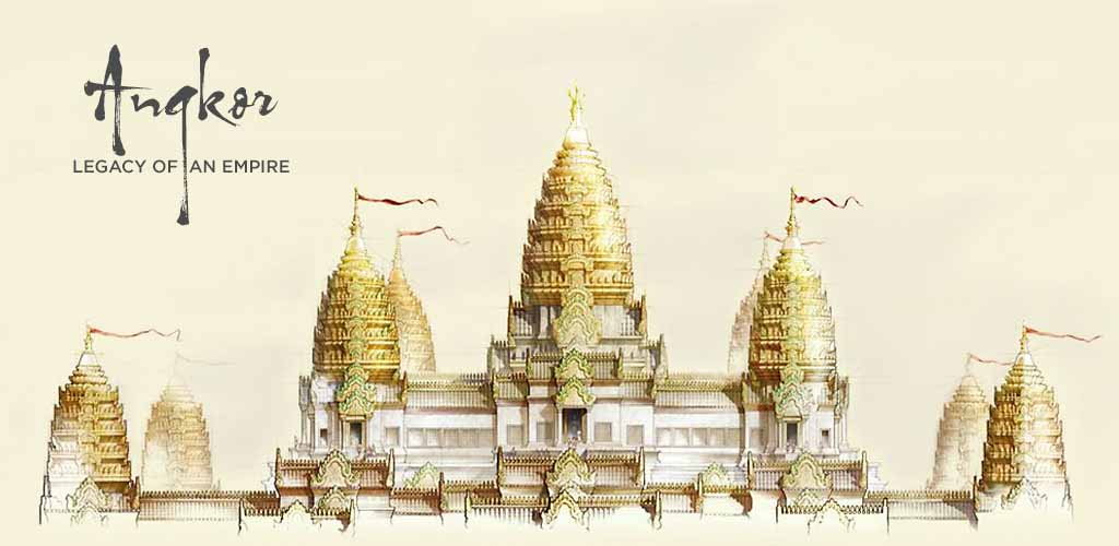 Sketch of Angkor Wat, Cambodia