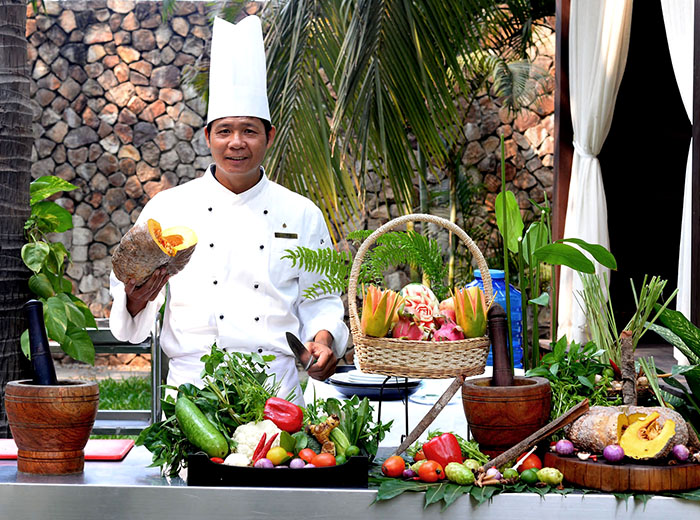 Chef at cooking class, Siem Riep, Cambodia