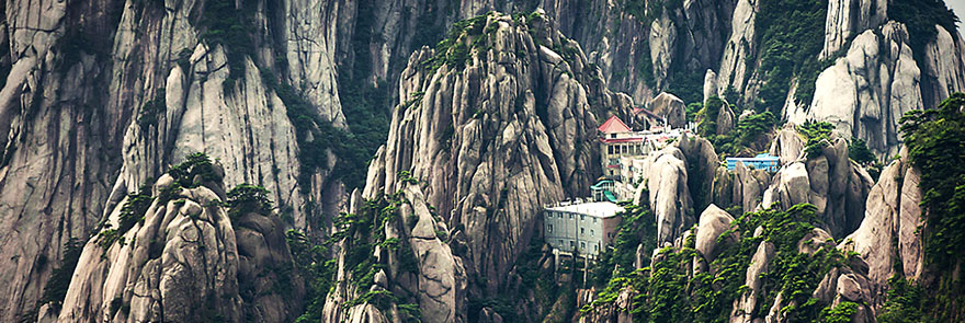 Jade Screen Pavilion hotel Huangshan China