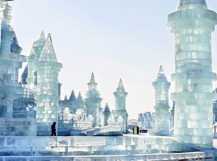 Ice building at Harbin, China Ice Festival
