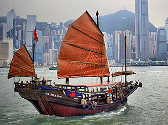 Hong Kong harbor cruise