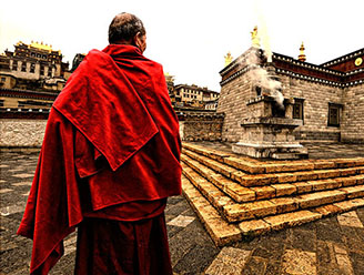 Monk in Lhasa, Tibet