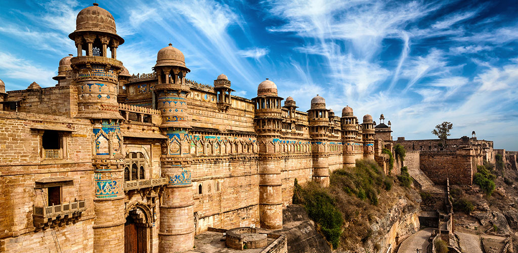 Gwalior Fort near Agra, India