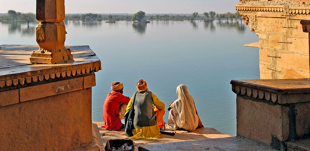 View on Gadsisar Sagar Lake, Jaisalmer, india