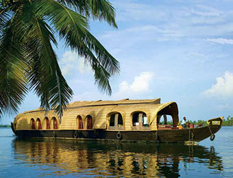 Luxury houseboat cruising on Kerala backwaters