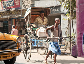 Rickshaw in Kolkata, India