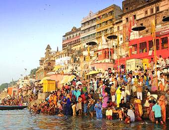 Ghats on the Ganges in Varanasi