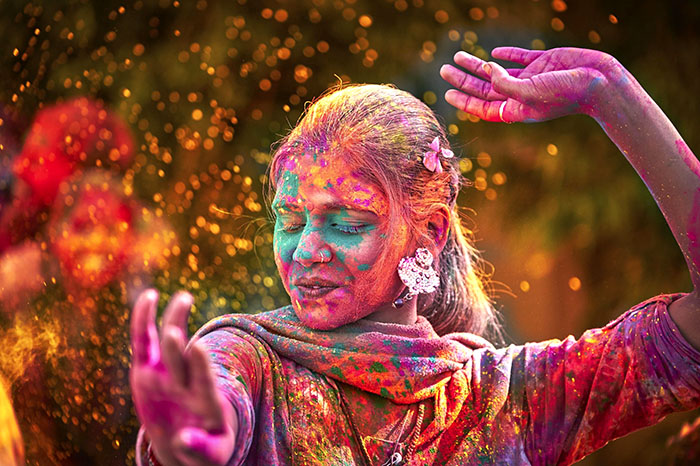 Dancer at Holi Festival in India