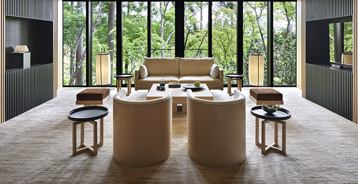 Washigamine Pavilion living room at the Aman Kyoto