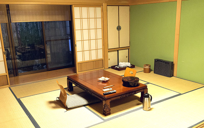 Fudoin omnastery guest room in Koyasan, Japan