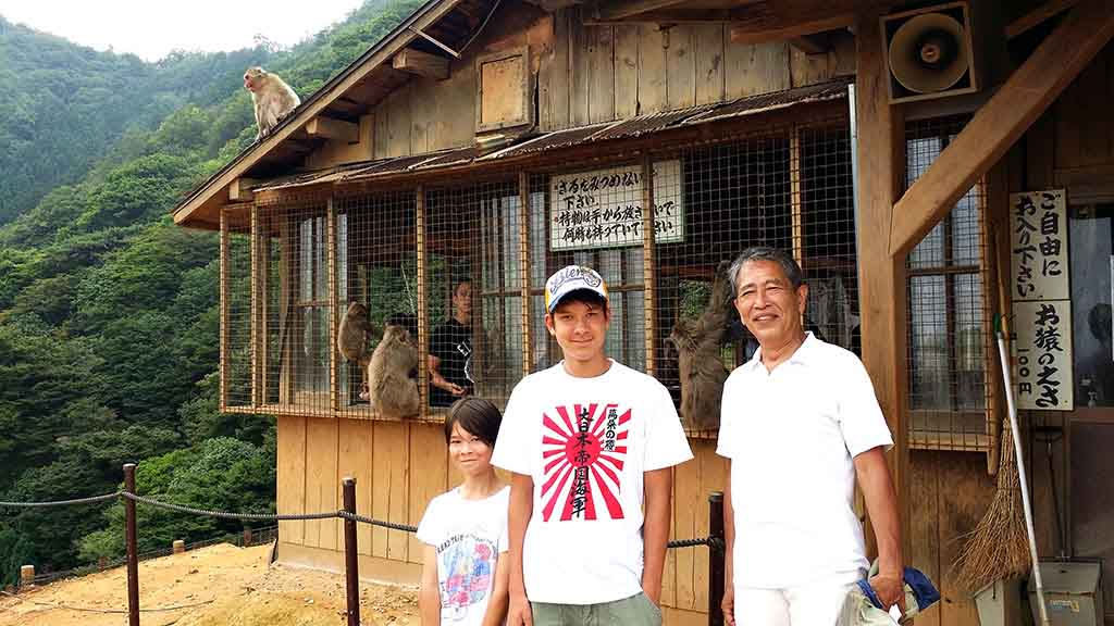 Touring monkey park in Arashiyama, Kyoto