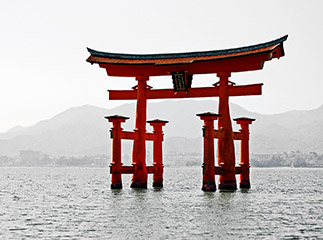 Lake Biwa, Japan Torii Gate
