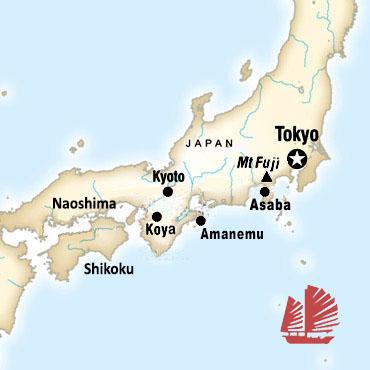 Japan Luxury Hotels - Japan map naoshima