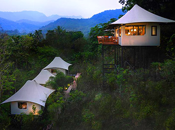 Rosewood luxury tented camp in Luang Prabang, Laos