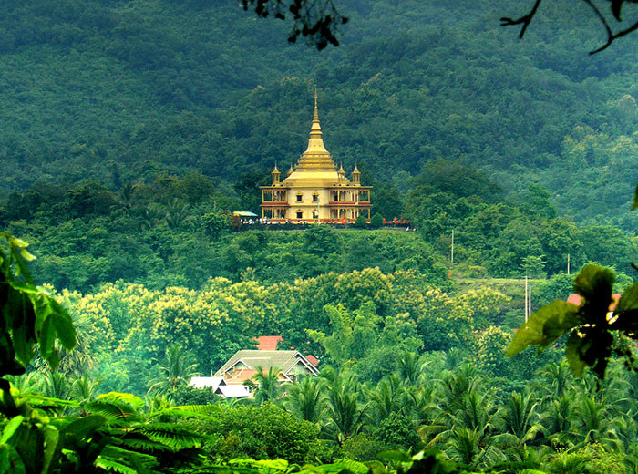 View of Wat Pa Phon Phao in Luang Prabang, Laos