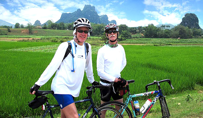 Cycling tour in Northern Laos