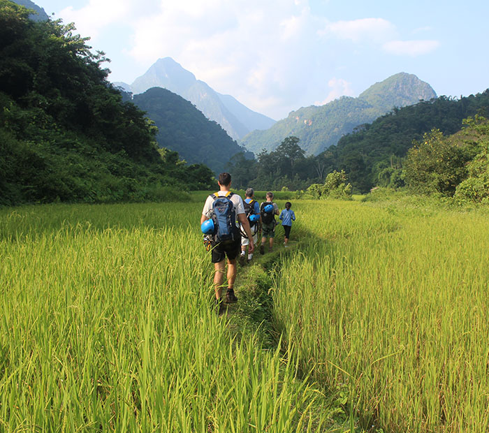 Hiking tour in Nong Khiaw, Laos