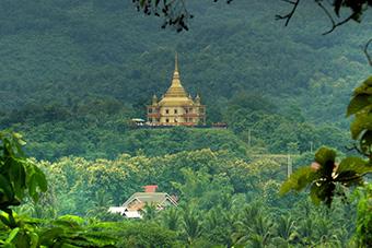 Hilltop temple in Luang Prabang, Laos