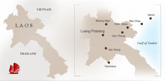 Travel Map of Laos