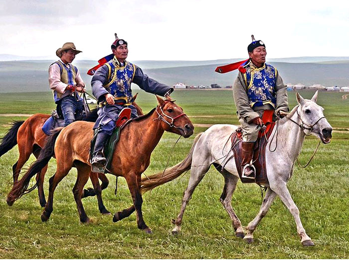 Horseman at Nadaam Festival in Mongolia