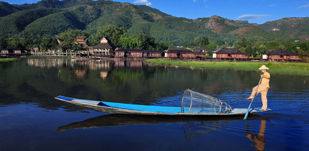 Rower on Inle Lake, Myanmar