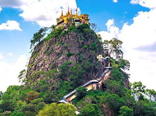 Mount Popa temple, Myanmar