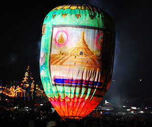 Taunggyi Hot Air (Fire) Balloon, Myanmar