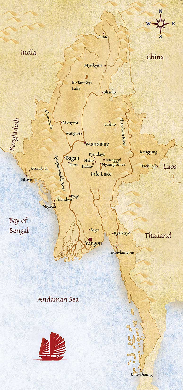 Myanmar Travel Map – Myanmar Travel Map