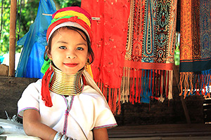 Inle Lake long neck hilltribe girl