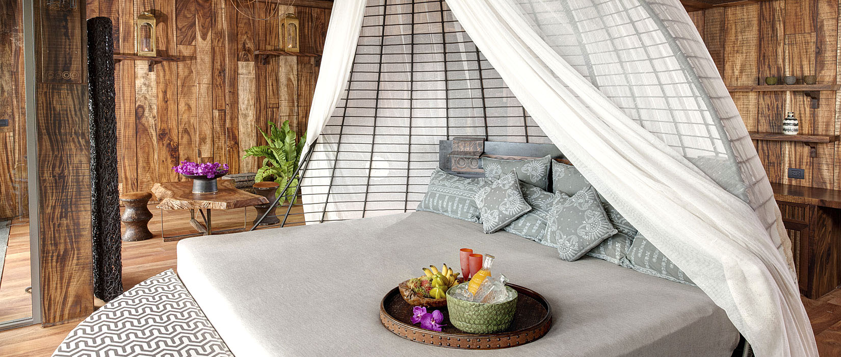Birds Nest Bedroom at Keemala Luxury resort in Phuket, Thailand