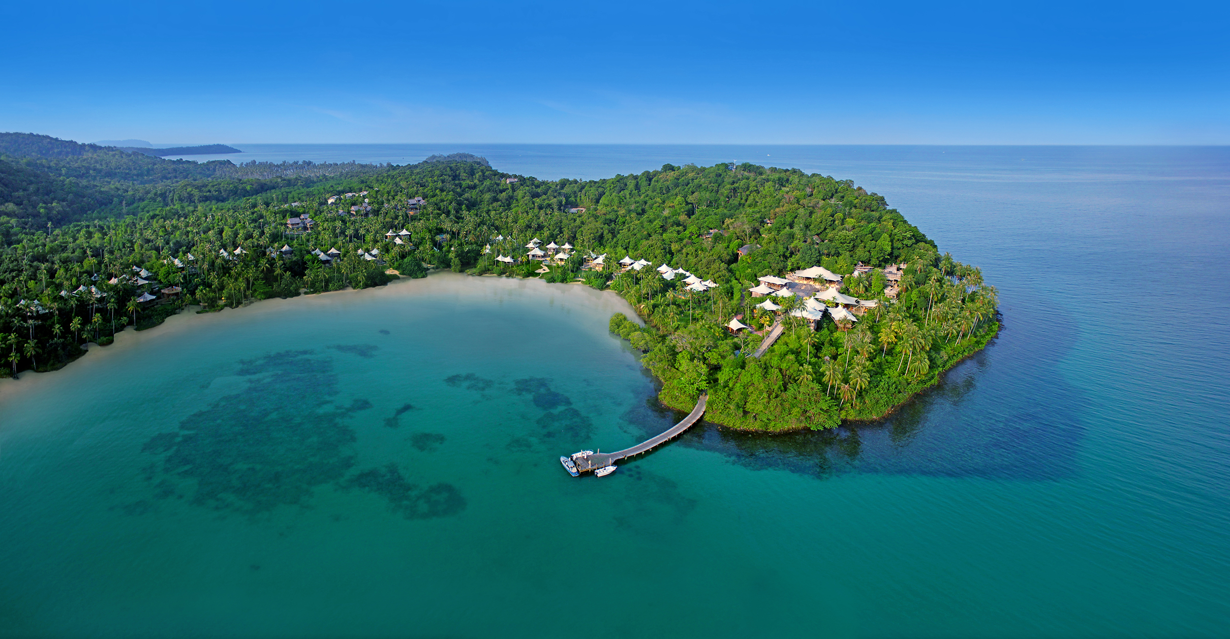 Soneva Kiri resort on Koh Kood aerial image