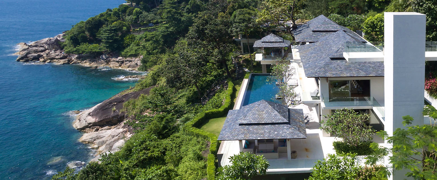 Aerial image Aquila private villa on Phuket, Thailand