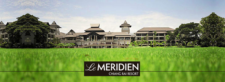 Le Merdien hotel and rice fields in Chiang Rai, Thailand