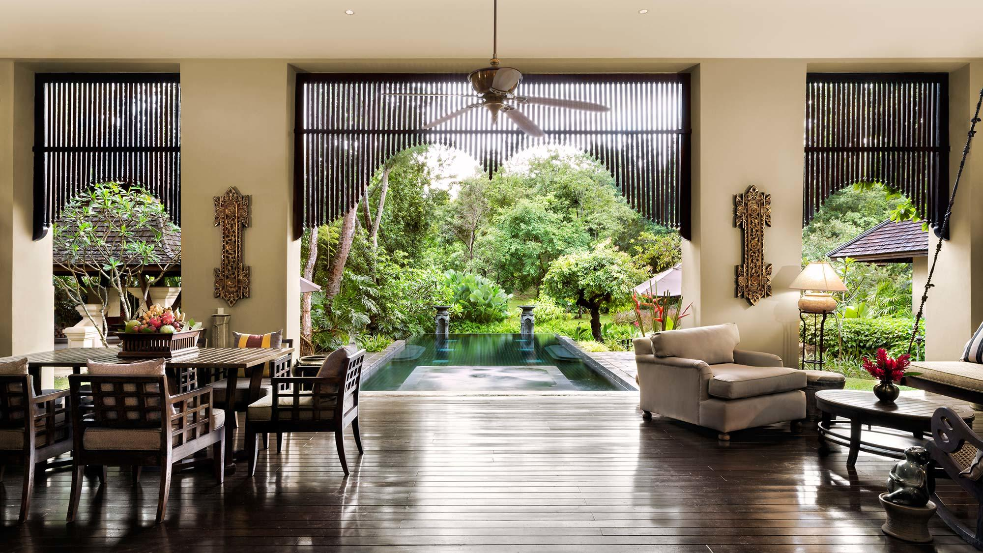 Pool villa at the Four Seasons resort Chiang Mai, Thailand