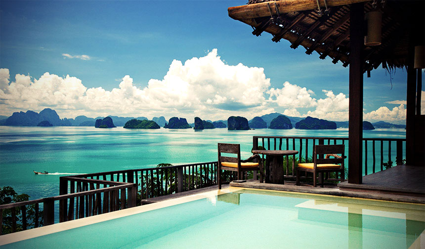 Six Senses Yao Noi pool villa with ocean view