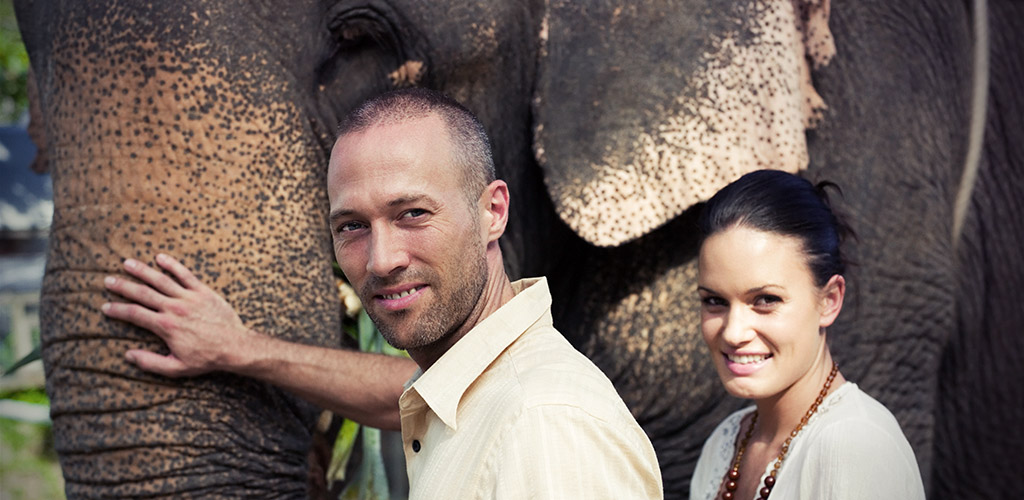 Elephant encounter in Chiang Mai, Thailand
