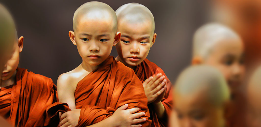Novice monks in Chiang Mai, Thailand