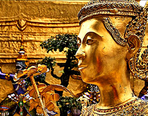 Gilded statue at the Royal Palace, Bangkok