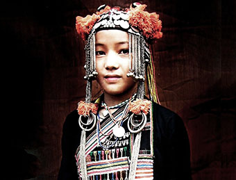 Akha hill tribe girl near Chiang Rai, Thailand