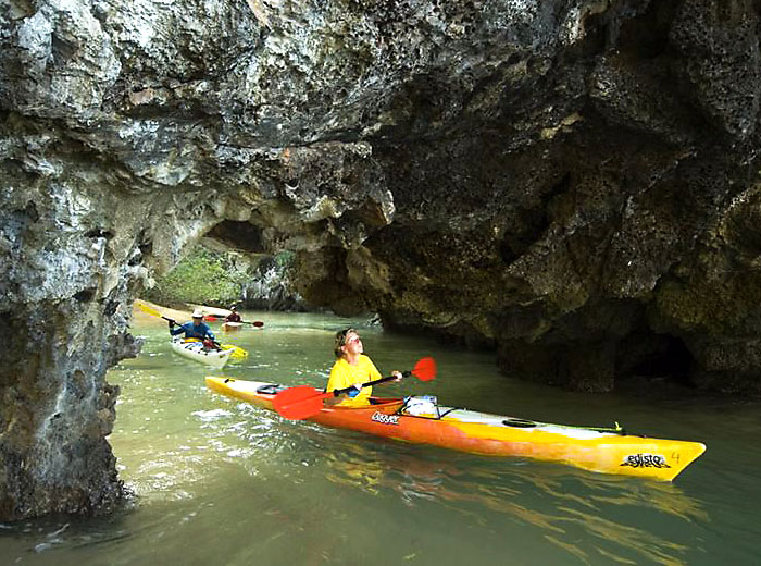 Kayaking in Southern Thailand cave