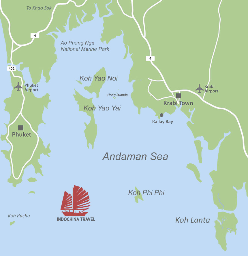Hong Island Map Holiday Resort Koh Yao Noi Island, Phuket